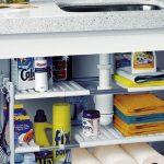 estante organizador bajo fregadero de cocina