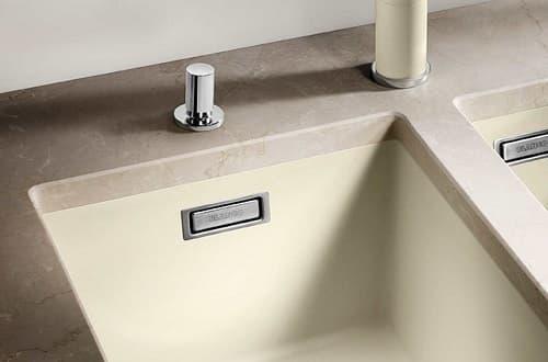 fregadero de cocina 2 cubetas Blanco Subline 350350-U