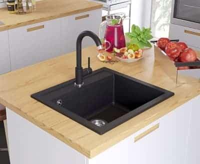 fregadero de cocina granito negro