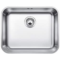 Blanco 518205 Blancosupra 500-U - Fregadero de cocina de 1 cubeta (acero inoxidable cepillado, sin válvula de desagüe tipo cestilla)